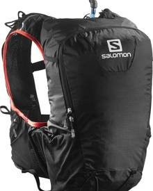Salomon Skin Pro 15 Set Trail Running Hydration Backpack - Black/bright red