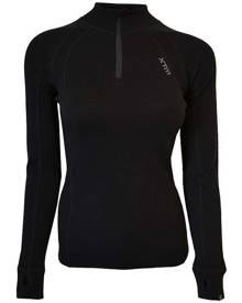 XTM Performance XTM Merino Womens Zipneck Base Thermal Top - Black [Clothing Size:12]
