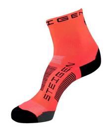 Steigen Unisex Running Socks - Fluro Red - OSFA