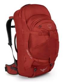 Osprey Farpoint 55L Ultralight Travel Backpack & Daypack - Jasper Red