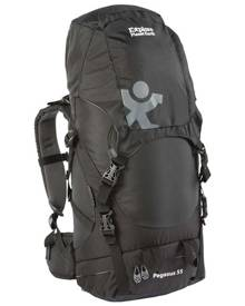 Explore Planet Earth Pegasus 55L Hiking Backpack - Black