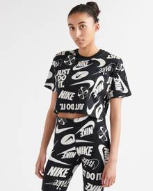 Nike Essentials All-Over Print Cropped Tee