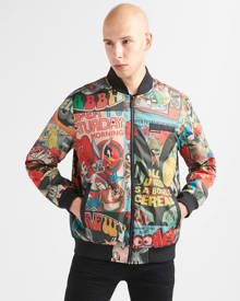 Members Only Looney Tunes Retro Print Bomber Jacket