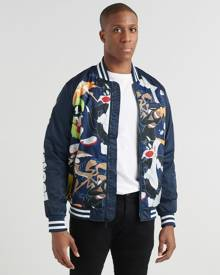 Members Only Mash Print Looney Tunes Bomber Jacket