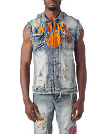 Unk NY Knicks SLVLS Denim Jacket