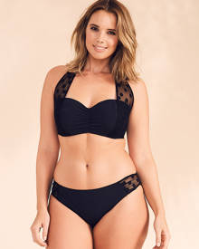 Sophina by Figleaves.com Icon Spot Mesh Black Underwired Halter Bikini Top D-G cup