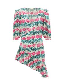 Adriana Degreas - Flore Floral-print Silk-crepe Dress - Womens - Pink Print
