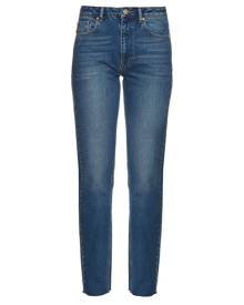 Raey - Rail High Rise Straight Leg Jeans - Womens - Indigo