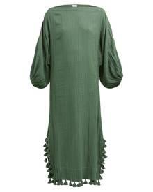 41f7b6e5ad5 Rhode - Delilah Boat Neck Cotton Dress - Womens - Dark Green