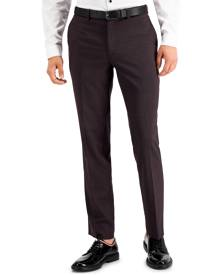 Inc International Concepts Inc Men's Slim-Fit Purple Plaid Suit Pants, Created for Macy's