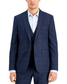 Inc International Concepts Inc Men's Slim-Fit Blue Windowpane Plaid Suit Jacket, Created for Macy's