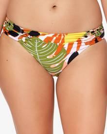 Bar Iii Tropical-Print Ruched Bikini Bottoms, Created for Macy's Women's Swimsuit