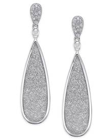 Macy's Diamond Glitter Drop Earrings (1/5 ct. t.w.) in Sterling Silver