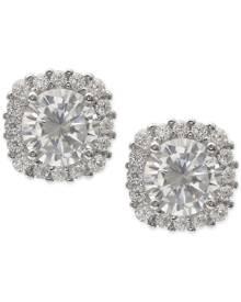Giani Bernini Cubic Zirconia Halo Stud Earrings in Sterling Silver, Created for Macy's