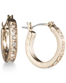 lonna & lilly Gold-Tone Pave Crystal Hoop Earrings