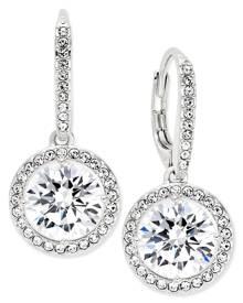 Danori Silver-Tone Crystal Drop Earrings, Created for Macy's