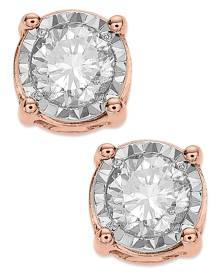 TruMiracle Diamond Stud Earrings (3/4 ct. t.w.) in 14k White Gold, Rose Gold or Gold