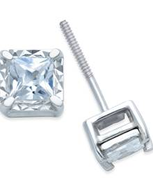 Macy's Diamond Stud Earrings (1/2 ct. t.w.) in 14k White Gold
