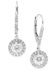 Macy's Diamond Dangle Drop Earrings in 14k White Gold (1 ct. t.w.)