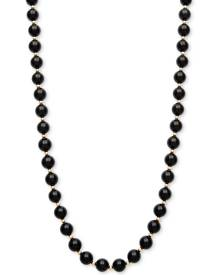 Macy's Onyx Bead Necklace (8mm) in 10k Gold