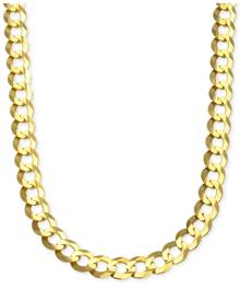 Macy's Curb Chain Link Necklace (10 mm) in Solid 10k Gold