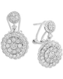 Effy Collection Rock Candy by Effy Diamond Cluster Drop Earrings (2-1/10 ct. t.w.) in 14k White Gold