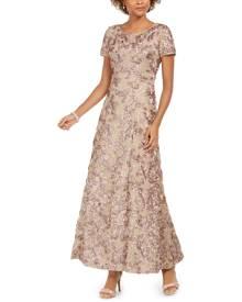 Alex Evenings Rosette A-Line Gown