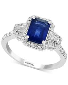 Effy Collection Gemstone Bridal by Effy Sapphire (1-1/2 ct. t.w.) & Diamond (3/8 ct. t.w.) Engagement Ring in 18k White Gold