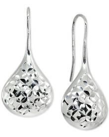 Giani Bernini Textured Teardrop Drop Earrings in Sterling Silver, Created for Macy's