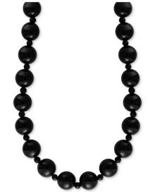 """Effy Collection Effy Onyx (4 & 10mm) Bead 20"""" Statement Necklace"""