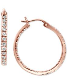 """Giani Bernini Small Cubic Zirconia In & Out Oval Hoop Earrings in 18k Gold-Plated Sterling Silver, 0.6"""", Created for Macy's"""