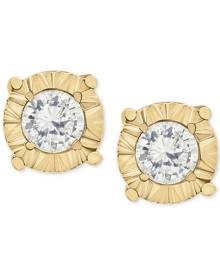 Macy's Diamond Stud Earrings in 10k Gold, White Gold or Rose Gold (1/4 ct. t.w.)