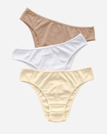 8589f2a42296 Leonisa 3-Pack Stretch Cotton Bikini Panties 12632X3