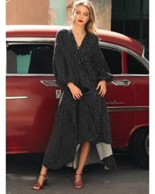 d903817b8f Bohemian Traders. Billow Sleeve Maxi Dress in Turkish Coffee Squares