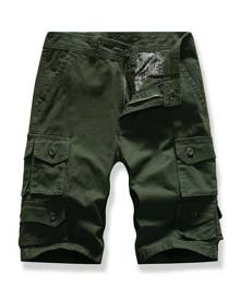 DressLily Letter Patched Multi-pocket Cargo Shorts