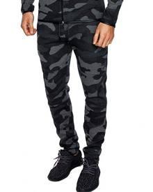 DressLily Camo Print Drawstring Casual Jogger Pants