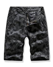 DressLily Camo Multi-pocket Casual Cargo Shorts