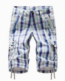 DressLily Plaid Multi-pocket Cargo Shorts