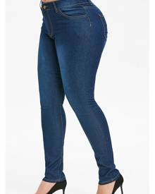 Rosegal Plus Size Basic Skinny Jeans