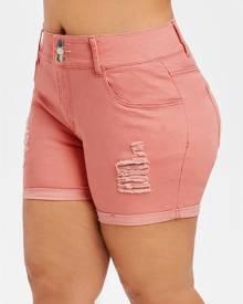 Rosegal Plus Size Ripped Denim Shorts