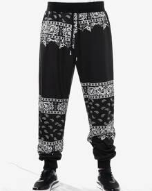 Rosegal Drawstring Ethnic Paisley Print Jogger Pants