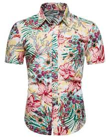 Rosegal Tiny Flower Button Up Hawaii Shirt