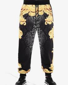 Rosegal Casual Filigree Print Drawstring Pants