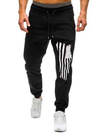Rosegal American Flag Graphic Drawstring Jogger Pants