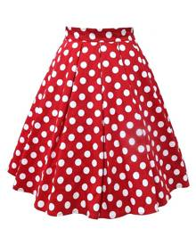 Rosegal Polka Dot A Line Retro Skirt