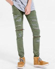 Rosegal Zipper Embellished Skinny Ripped Jeans