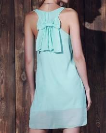 Rosegal Bowknot Chiffon Shift Tank Dress