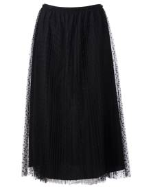 RED Valentino Pleated Tulle Midi Skirt
