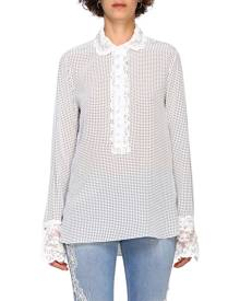 Ermanno Scervino Shirt Ermanno Scervino Shirt With Applications And Polka Dot Print