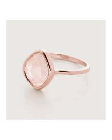Monica Vinader Rose Gold Siren Small Nugget Stacking Ring Rose Quartz